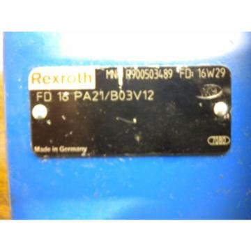 BOSCH REXROTH HYDRAULIC VALVE R900503489 16W29 FD16PA21/B03V12 FREE SHIPPING