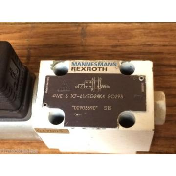 Rexroth Hydraulics 4WE 6 X7-61/EG24K4 SO293 Industrial Hydraulic Control Valve