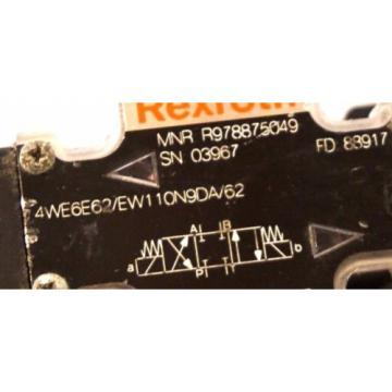 Origin REXROTH 4WE6E62/EW110N9DA/62 HYDRAULIC VALVE R978875049