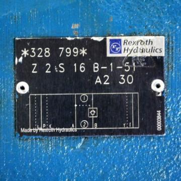 Rexroth Z2S16-B1-51-A2-30 Hydraulic Check Valve 328-799 - USED