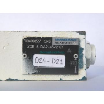 Mannesmann Rexroth ZDR 6 DA2-43/210Y 00410855 Pressure Reducer Valve