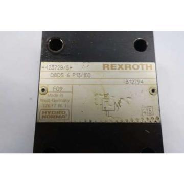 REXROTH DBDS-6-P13/100 PRESSURE RELIEF HYDRAULIC VALVE D550739