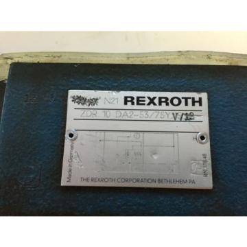 Origin OLD REXROTH ZDR 10 DA2-53/75Y V/12 HYDRAULIC PRESSURE REDUCING VALVE,BOXZA