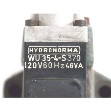 REXROTH 4-WE-6-J51/AW120-60NZ4 HYDRAULIC VALVE W/ WU35-4-S420 COILS