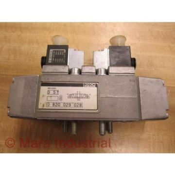 Rexroth Bosch 0 820 029 028 Directional Control Valve 0820029028 - Used