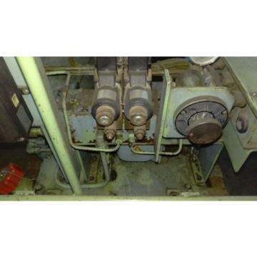 OKUMA LB 15 CNC LATHE COMPLETE SHOWA HYDRAULIC SYSTEM  NACHI VARIABLE VANE