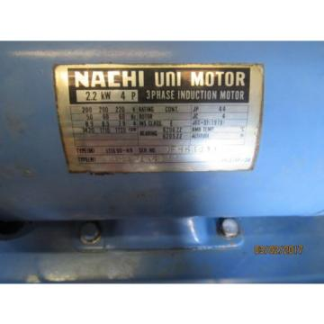 NACHI HYDRAULIC POWER UNIT VARIABLE VANE VDC-1B-2A3-HU-1688K/OF8830000 MOTOR