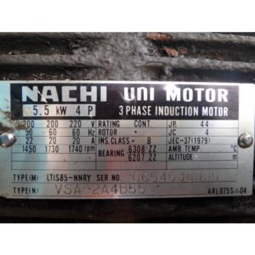 Nachi Variable Vane Pump amp; Motor_PVS-2B-35N1-11_LTIS85-NNRY_UPV-2A-35N1-55-4-11