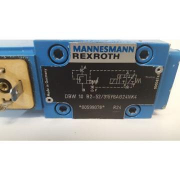 GUARANTEED GOOD USED REXROTH HYDRAULIC VALVE DBW10B2-52/315Y6AG24NK4