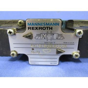 MANNESMANN REXROTH DIRECTIONAL CONTROL VALVE 4WE6E61/EW110N