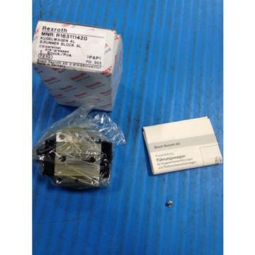 Origin REXROTH R163111420 RUNNER BLOCK BALL CARRIAGE LINEAR BEARING U4