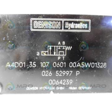DENISON A4D0135107060100A5W01328 PILOT CONTROL VALVE Origin NO BOX