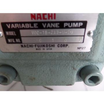 NACHI HYDRAULIC PUMP LTIS-NR UNI UVC-1A-2A3-37-4-26 VDC-1B-2A3-U-20 John