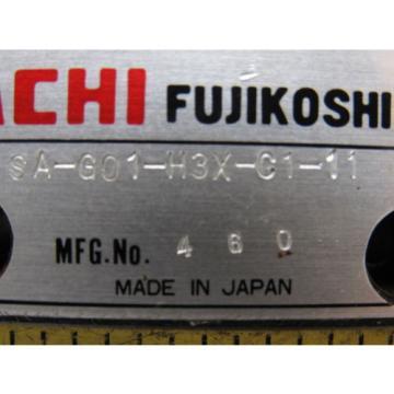 Nachi SA-G01-H3X-C1-11 Solenoid Operated Control Hydraulic Valve