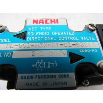 Nachi SL-G01-H3X-RT-C1-9320B Hydraulic Solenoid Directional Control Valve