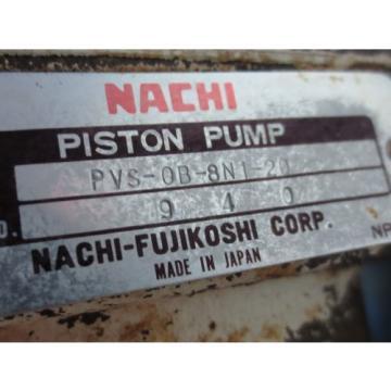 NACHI HYDRAULIC OIL PUMP MOTOR LTIS85-NR UPV-0A-8N1-07A-4-20 PVS-0B-8N1-20