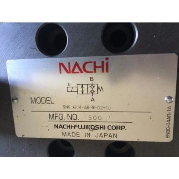 Origin NACHI SNH-G04-AR-N-D2-10,NACHI FUJIKOSHI SNH-G04-AR-N-02-10 HYDRAULIC VALVE