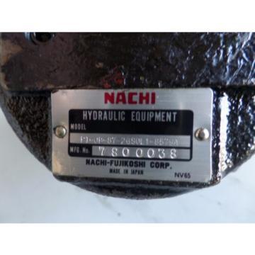 MAZAK NACHI HYDRAULIC MOTOR PI-0B-87-2GS0L1-8579A MAZAK SQT-200 #1909M