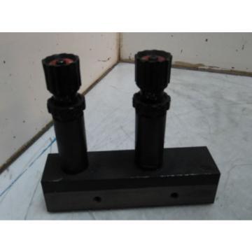 Nachi Dual Hydraulic Cartridge Valves, HHC-01R0-0464C, w/ Manifold, Used