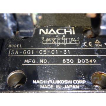 NACHI SOLENOID CONTROLLED VALVE SA-G01-C5-C1-31_SA-GO1-C5-C1-31