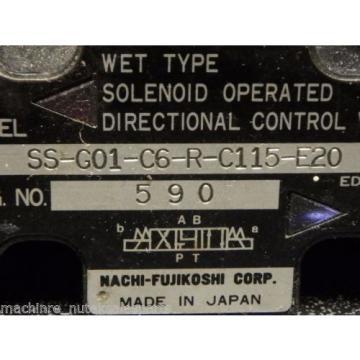 NACHI DIRECTIONAL CONTROL VAVLE_SS-G01-C6-R-C115-E20_SSG01C6RC115E20
