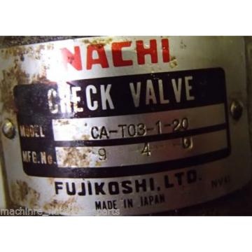 Nachi Variable Vane Pump VDR-1A-1A3-E22 _ VDR1A1A3E22 _ Check Valve CA-T03-1-20