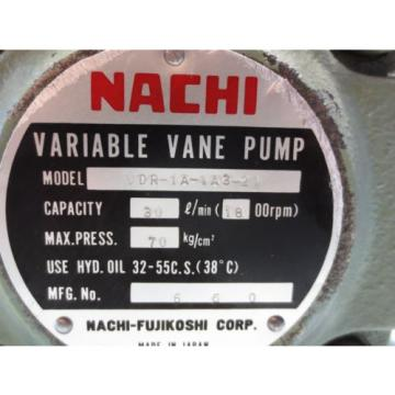 NACHI VARIABLE VANE PUMP VDR-1A-1A3-21
