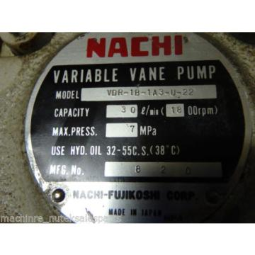 Nachi Variable Vane Pump VDR-1B-1A3-U-22 _ VDR1B1A3U22 30l/min