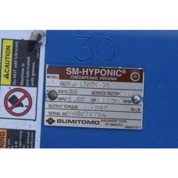 SUMITOMO RNYJ-1320Y-30 HYPONIC 5/8X1-1/4IN 107HP 30:1 GEAR REDUCER B243456