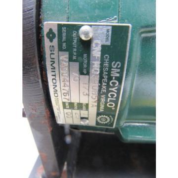 Sumitomo SM-Cyclo CNFM034085YA 1/3HP Gear Motor 25:1 Ratio 208-230/460V 3Ph
