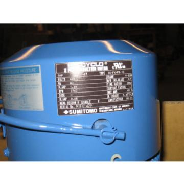 origin Sumitomo Drive  Model rnyms1 1530 b 240 1hp 3p 460v  Drive Induction Gear