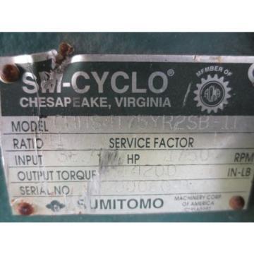 Sumitomo SM-Cyclo CHHS4175YR2SB-11 Speed Gear Reducer