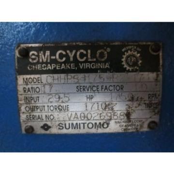 Sumitomo SM-Cyclo CHHPS4175YR2-17 Gear Reducer