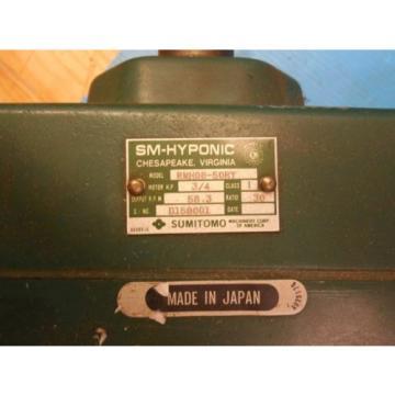 SUMITOMO RMH08-50RY AC GEAR MOTOR CLASS I MOTOR HP 3/4 RATIO 30 RPM 583