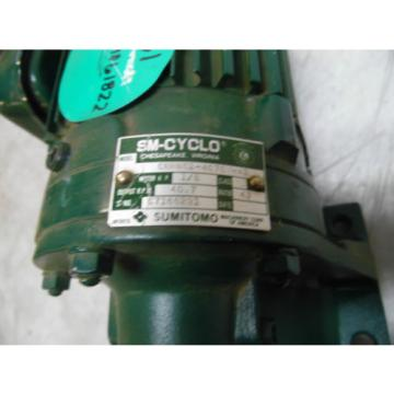 Sumitomo SM-Cyclo Induction Geared Motor, CNHM-01-4075Y-43, 43:1,  WARRANTY