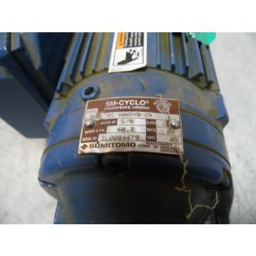 Sumitomo SM-Cyclo Induction Geared Motor, CNHM-01-6065YB-29, 29:1,  WARRANTY