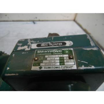 Sumitomo SM-Hyponic Induction Geared Motor, RMH02-30LY, 30:1 Ratio,  WARRANTY