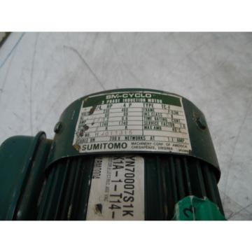 Sumitomo SM-Hyponic Induction Geared Motor, RMH1/4-30L, 60:1 Ratio,  WARRANTY