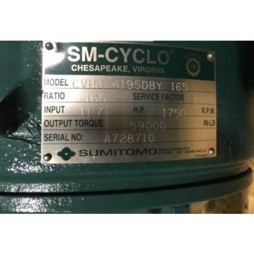 SM-CYCLO CVHJ Sumitomo Cyclo Speed Gear Reducer CVHJ-4195DBY-165