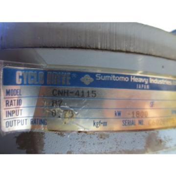 SUMITOMO CYCLO DRIVE CNH-4115 GEAR BOX REDUCER MORI SEIKI SH-50 CNC MILL