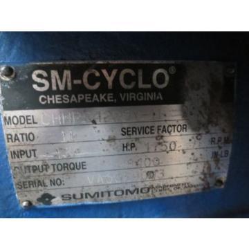 SUMITOMO CHHPS4225Y-11 INLINE GEAR REDUCER