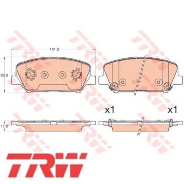 TRW Bremsbelagsatz Bremsbeläge Bremsklötze 24915 24916 24917 GDB3582