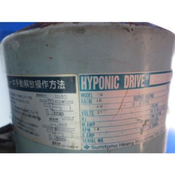 MITSUBISHI M-V5CN  GEAR MOTOR SUMITOMO HYPONIC DRIVE MODEL RN   TC-F/FB-1B