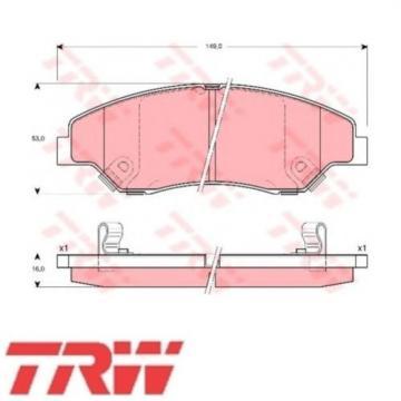 TRW Bremsbelagsatz Bremsbeläge Bremsklötze Vorn KIA 23442 GDB3241