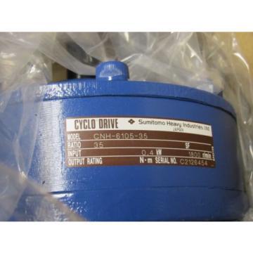 SUMITOMO CYCLO CNH-6105-35 SPEED REDUCER 1800RPM NIB