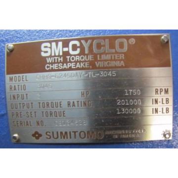 SUMITOMO CHHS-6245DAY-TL-3045 SM-CYCLO 3045:1 RATIO SPEED REDUCER GEARBOX Origin
