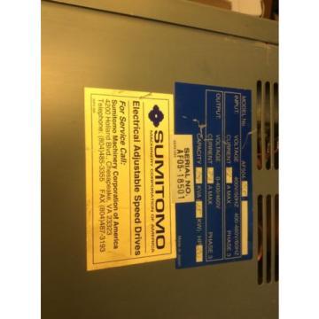 Sumitomo SMAC PAC Trasnsistor Inverter AF504-015 VFD Adjustable Speed Drive $799