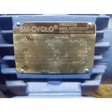 Sumitomo 15 HP SM-CYCLO 3 Phase Premium Induction Motor and Reducer
