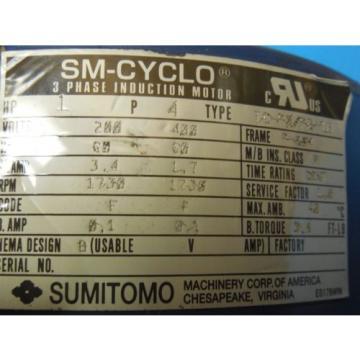 SM CYCLO SUMITOMO CNFMS1-6085YA-B-21 AC MOTOR INDUSTRIAL MACHINERY TOOLING