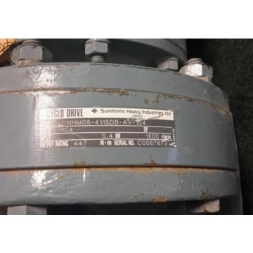 SUMITOMO CYCLO DRIVE CNHM05-4115DB-AV-104 TYPE TC-FV INDUCTION MOTOR 1735RPM Origin